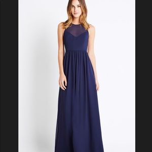 BCBGenerarion shirted neck gown